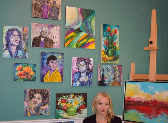 Michelle Ciancio of Hudson paints a variety of subjects, including portraits, landscapes and still lifes. Her paintings help raise money for area arts organizations.