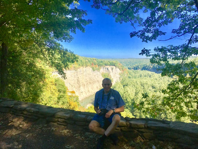 Eric Eichler, of Canandaigua, takes a trip to Mount Morris and Letchworth State Park with his wife, Ruth, to celebrate his 70th birthday.