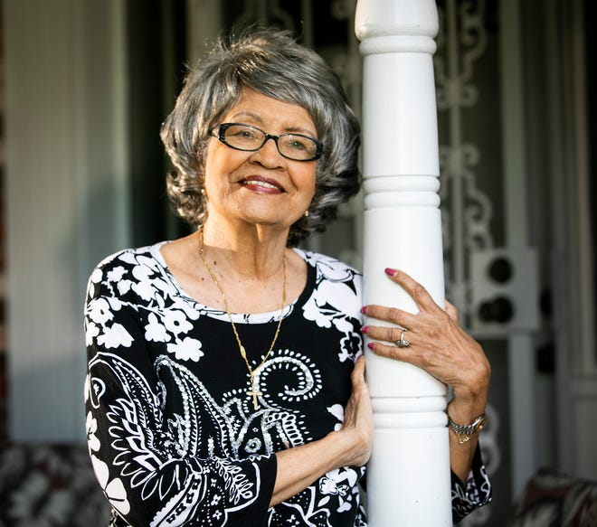 Longtime Marion County educator and community leader Juanita Cunningham spends afternoons on the porch. On Friday, she received the key to the city of Ocala.
