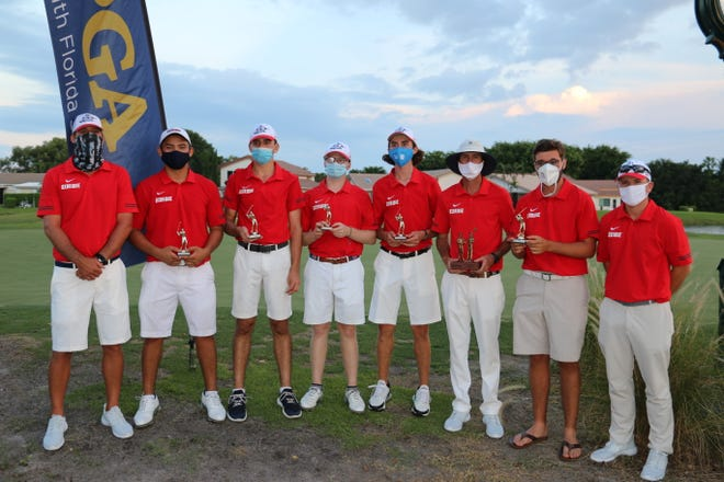 The Oxbridge boys golf team won the PGA South Florida Invitational on Saturday in Boynton Beach.