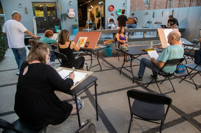 The Art Expressions of San Joaquin's weekly drawing class meets at the Catalyst Arts & Wellness Studio, which is open to artists of all skill levels to give them an opportunity to learn new skills or practice ones they already possess.