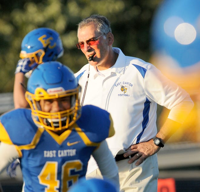 "This will be the fourth time in five seasons that East Canton has appeared in the playoffs under head coach John ""Spider"" Miller."