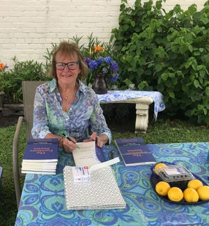 """Local author Rosemary Ann Bricker, will have a book signing event to feature her newly published book of short stories, """"The Furniture Stories and the Secret Family Recipes,"""" published on Amazon. The 12 short stories include a brief background history and original sketch of each furniture piece. Several recipes are included, along with an Introduction portraying the New Bern lifestyle. A background as an antique dealer gave the author inspiration for writing this book. The book signing event will be held on Saturday, Oct. 3, from 12:30 to 3 p.m. at Next Chapter Books, 320 S. Front Street in New Bern. Next Chapter Books will be featuring both authors and artists during Mumfeast weekends on Friday and Saturday with store hours from noon to 9 p.m. [CONTRIBUTED PHOTO]"""
