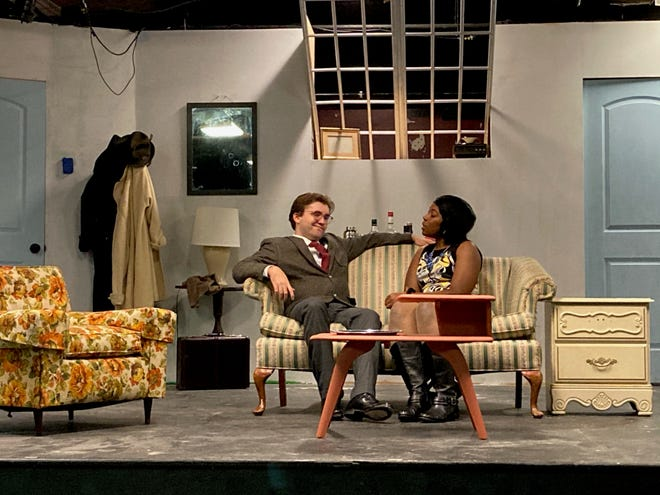 Gage Long and Tanisha Johnson star in 'Barefoot in the Park' at Gilbert Theater. [CONTRIBUTED PHOTO]