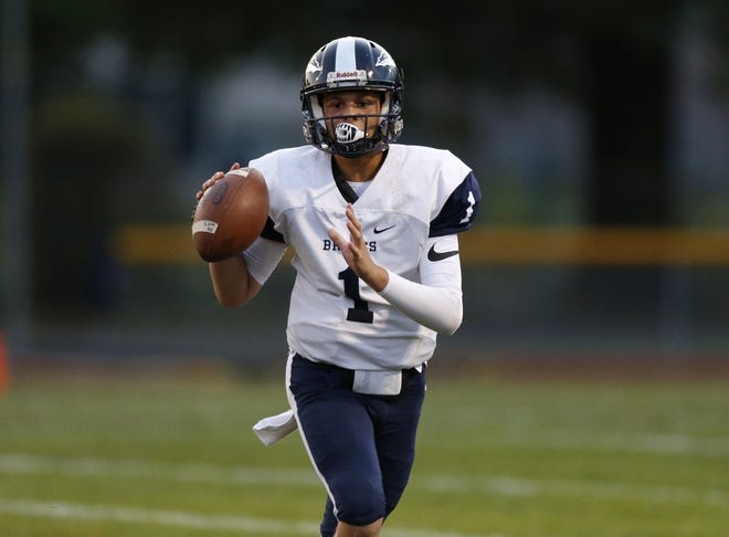 Senior quarterback Alex Hurd has stepped into a leadership role for the Whetstone football team, which improved to 1-1 with a 12-6 victory over visiting Mifflin on Sept. 25. The Braves will play at rival Centennial on Friday, Oct. 2.