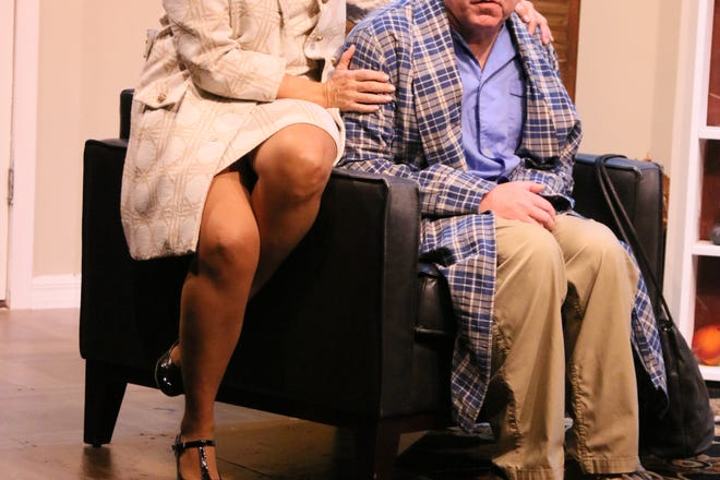 """Liz Keimer plays """"Edna"""" and Steven Costner plays """"Mel"""" in Neil Simon's comedy """"The Prisoner of Second Avenue,"""" on stage at Melbourne Civic Theatre through Nov. 8, 2020. Visit mymct.org."""