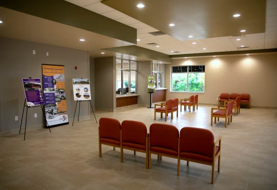 The lobby of the Mt. Healthy Family Practice Center, Monday, Sept. 28, 2020. Dolores Lindsay, 83, retired after 53 years of fighting for quality healthcare for the poor.