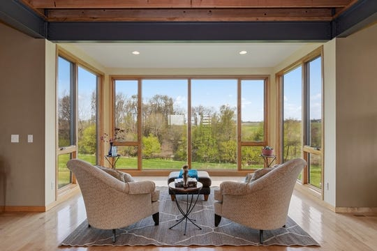 Verdant pastures meet slick contemporary designs on this six-acre $1,350,000 home selling in eastern Iowa at 5108 280th Street NE, Iowa City. Oasis is the word to describe this property. Working from home will become your new favorite choice.