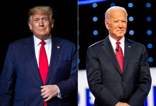 President Donald Trump and former Vice President Joe Biden will face off Tuesday night in the first of three planned televised debates, this one beginning at 9 p.m. ET.