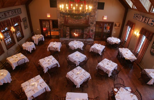 The main dining room at the Mohawk House in Sparta, N.J.