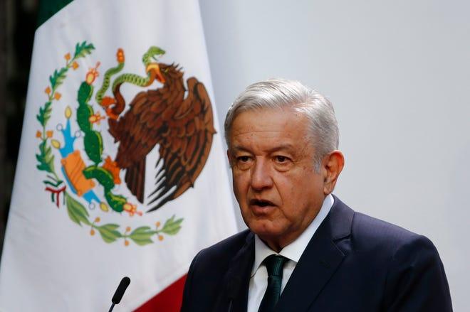El presidente de México, Andrés Manuel López Obrador, participa durante una rueda de prensa matutina en el Palacio Nacional de Ciudad de México.
