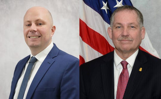 Sandusky attorney Timothy Wrathell, left, and former FBI agent Mark Davidson are running for Sanilac County Circuit Court Judge in the Nov. 3 elections.