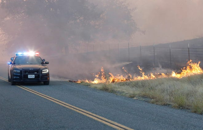 The Zogg Fire started Sunday afternoon, Sept. 27, 2020, southwest of Redding.
