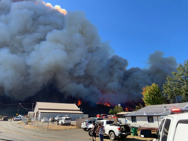 The Zogg Fire blows up in Shasta County on the afternoon of Sunday, Sept. 27, 2020.