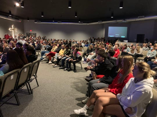 Celebrate Community Church was filled to capacity at the vigil in honor of Noah Kimball in Brandon on Sunday, Sept. 27.