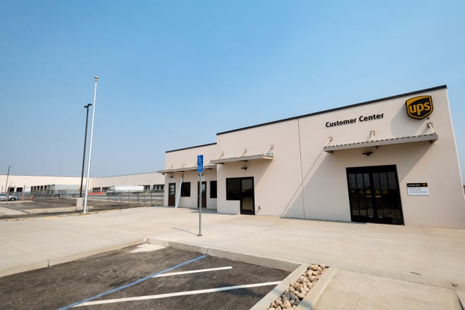 United Parcel Service's new 450,000 square-foot distribution hub on Plaza Drive just north of Riggin Avenue is nearing completion.