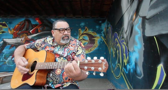 In Octoberthe Arts Consortium is featuringthe musical stylings of Pa'Chango's frontman and creator, Hector Uriarte (known as Chango). He'll performfoursongs with a mix of upbeatLatin rockrhythmsthe local band is known for.