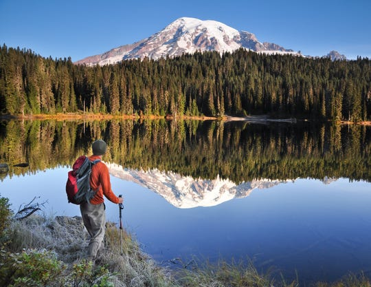 Reflection Lake is a perfect photo spot in Mount Rainier National Park.