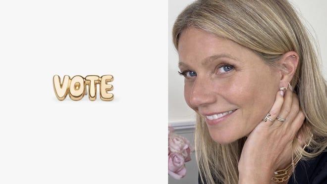 Where to buy Gwyneth Paltrow's vote earrings