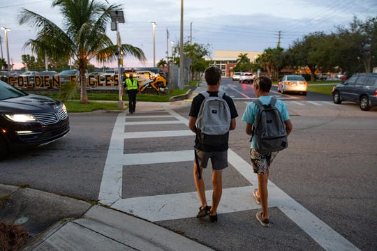 Naples High School students return to class on Monday, Aug. 31, 2020.