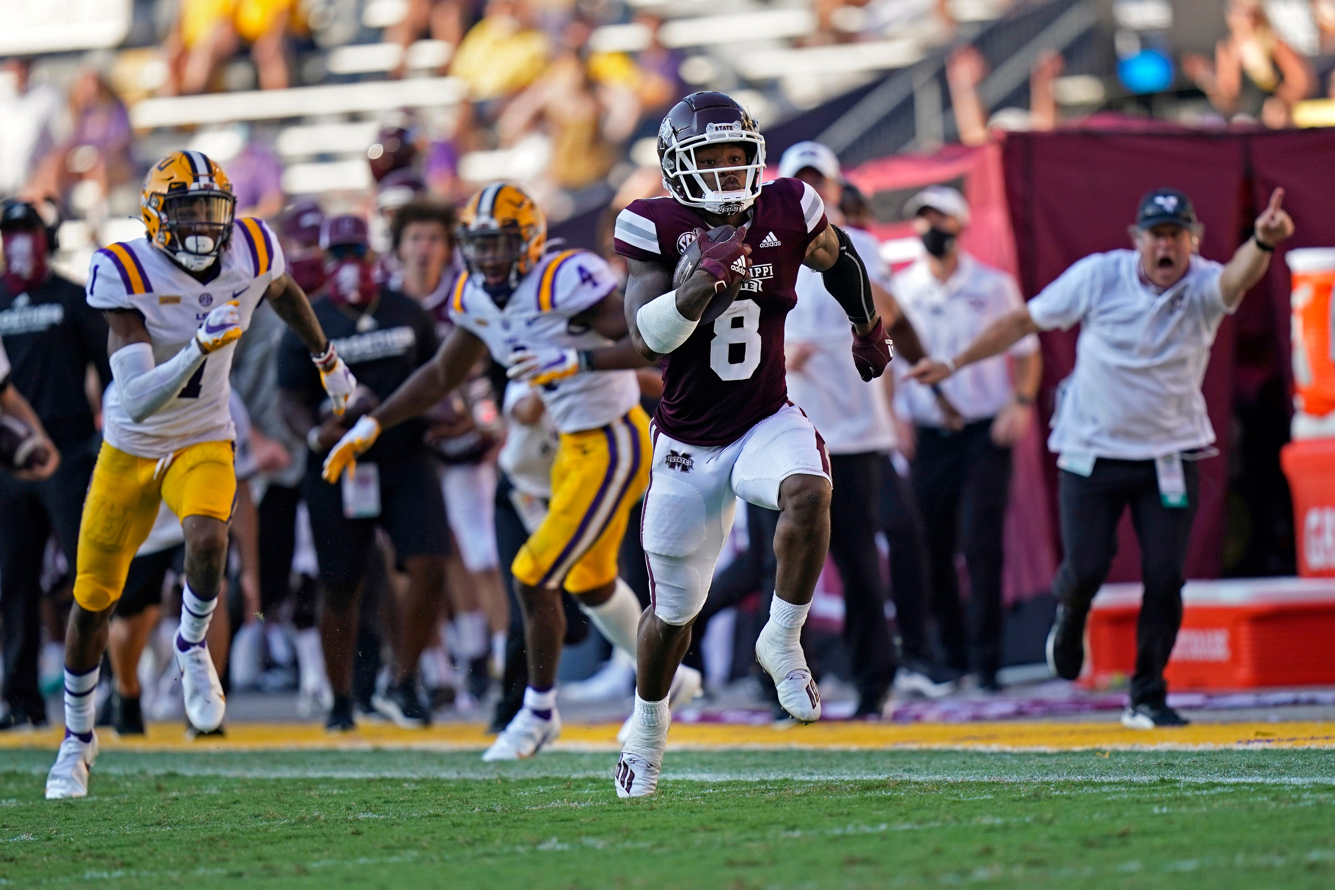 College Football Ncaa Re Rank Mississippi State Rises Lsu Tumbles