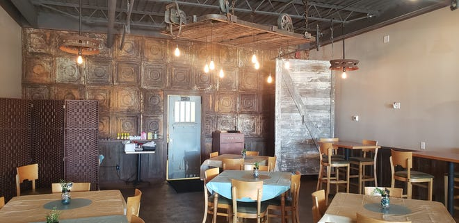 Building owner James Thompson took special care while he was renovating the space for Gabby's. The unique rustic interior is filled with repurposed items Thompson had collected at some of his other properties over the years.