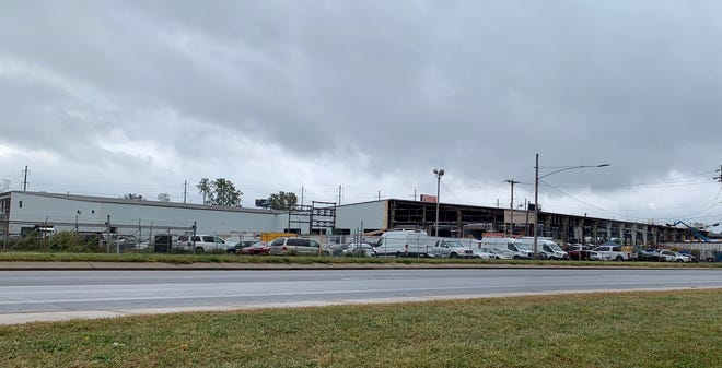 A warehouse on Bristol Pike in Bristol Township has been gutted and will be transformed into a new Amazon distribution center.