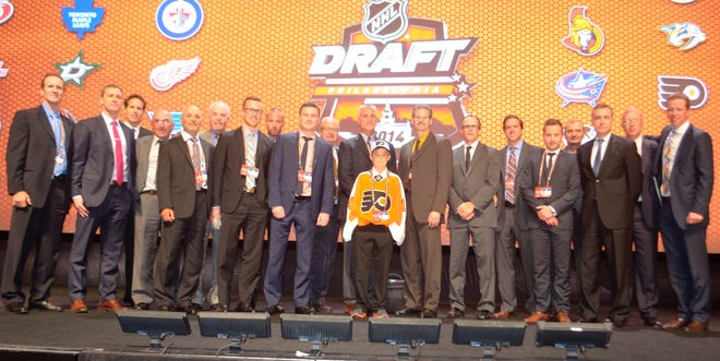 Ridly Greig was the Flyers' team runner at the 2014 NHL Draft in Philadelphia.
