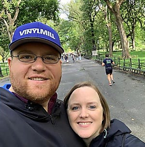 Covid-19 has taken a huge toll on Brad and Beth Benefield. Brad has yet to fully recover nearly 7 months after contracting the virus. Beth's father died from COVID-19 in March. Pictured, Brad and Beth Benefield in 2018.