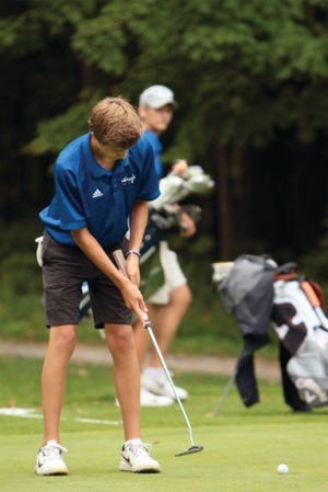 Mustang golfer Clayton Koivuniemi birdied the No. 4 at Lakeside Country Club in Penn Yan's win over Pal-Mac last week.