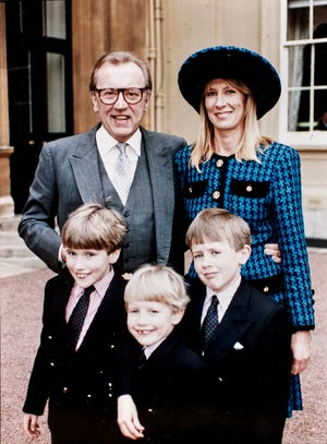 David Frost, top left, with his wife, Carina Fitzalan-Howard, and their children, from the left, Wilfred, George and Miles. When the son of David Frost went looking for missing tapes of his father's interview show, he found many of them in an unlikely place.
