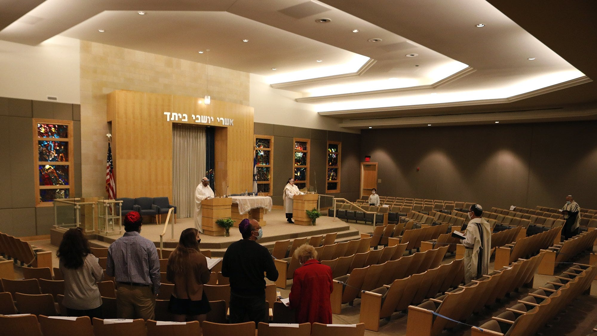 A retired rabbi from Minnesota came to Bexley synagogue Agudas Achim to do the service marking the end of the Yom Kippur Monday evening. After the service, members gathered outside to listen to the blowing of the shofar.