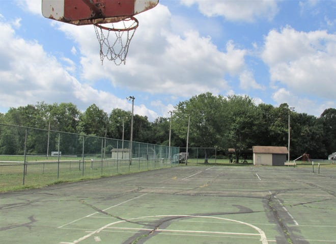 The basketball/tennis court at Old Airport Park in Millersburg will be phase 1 of the renovation project, resurfacing and adding pickle ball courts.