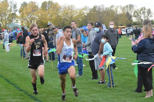 Columbus High School junior Isaac Acosta finished 36th in 17 minutes, 51.1 seconds at the Class 1A state cross country meet Saturday at Lakeside Municipal Golf Course in Fort Dodge. Acosta helped Columbus finish 14th in the team race.