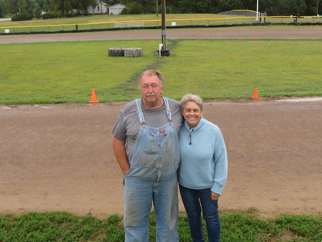 Byron Sebastian and Alice Sebastian own and operate Sebastian Speedway, a 1/8-mile go-kart track in Gladstone, Illinois.