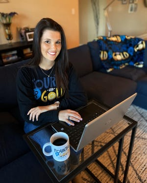 Erin Tracy, a pediatric oncology nurse in Jacksonville, founded an online business three years ago to fundraise for childhood cancer research organizations. Now a nonprofit, Fourth and Gold plans to fund its own childhood cancer research.