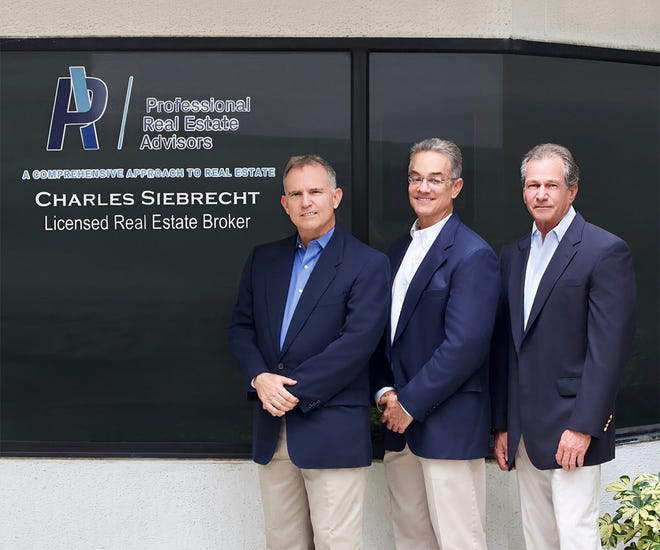 From left to right: Steven Mathison, Brig Edwards and Charles Siebrecht recently launched Professional Real Estate Advisors, a Palm Beach Gardens company that offers professional and legal services for the real estate industry.