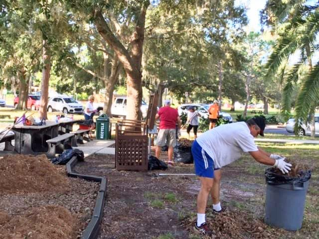Make a Difference Day has been canceled in Venice for 2020 because of COVID-19 concerns. Shown here, volunteers work on cleaning up Venezia Park as part of the 2018 observance of Make a Difference Day.