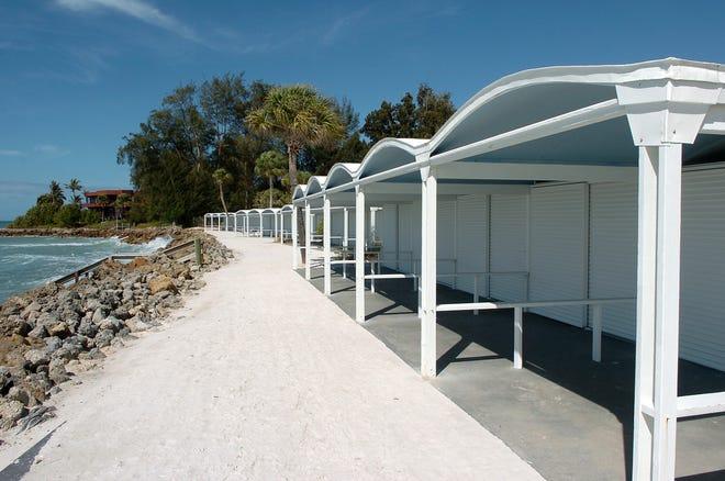 The Paul Rudolph-designed cabanas at the Sanderling Beach Club on Siesta Key.