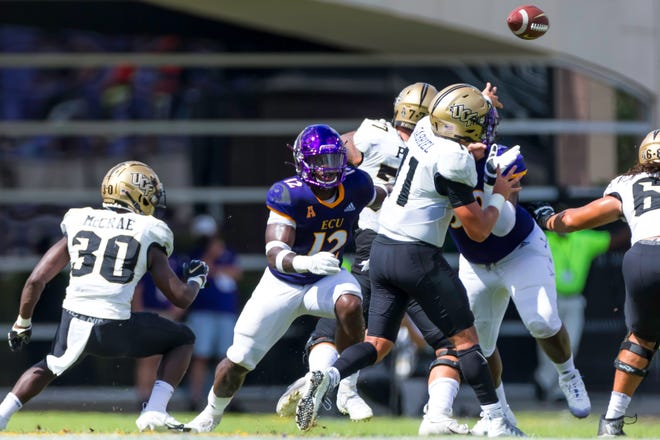 UCF's offense finished with 632 yards in a 51-28 victory over ECU Saturday. [Rob Goldberg, ECU athletics]