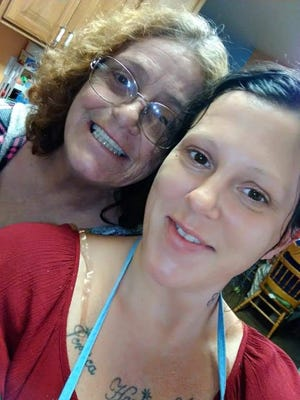 Rebecca Fellows, right, pictured with her mother, Dixie Krueger, was last seen July 9. Her remains were found in Benson. [Contributed photo]
