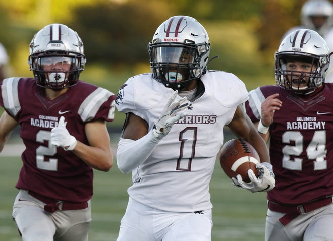 Harvest Prep's Jaylen Jennings rushed for 164 yards and a touchdown on 19 carries in a 46-20 victory over Bexley on Sept. 25.