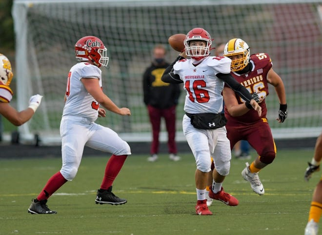 Quarterback Peter Pedrozo and the South football team improved to 5-0 with a 42-24 victory over Canal Winchester on Sept. 25 and will look to clinch the outright OCC-Capital title against winless Franklin Heights on Friday, Oct. 2.