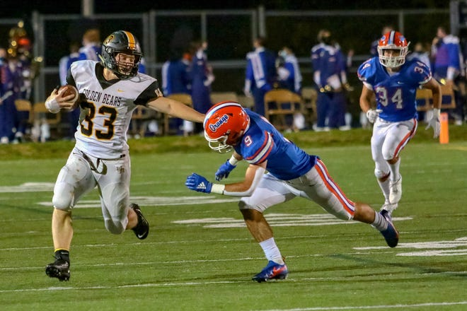 Upper Arlington's Carson Gresock ran for 226 yards and two touchdowns on 27 carries on Sept. 25 in a 24-14 loss to Coffman. For the season, he has rushed for 815 yards and four touchdowns on 133 carries.