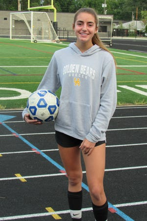 Upper Arlington girls soccer midfielder Sophie Esquinas has taken on a defensive-minded role this season. Esquinas, a junior, has become one of the leaders of a unit that allowed just seven goals during the team's 6-0-1 start.
