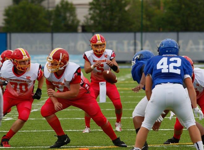 Quarterback Hobie Raikes and Worthington Christian take on Berne Union on Friday, Oct. 2.