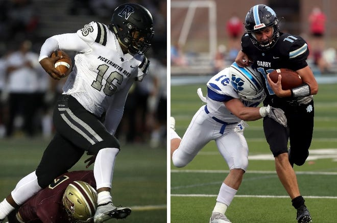 Pickerington North quarterback Jaylen Gilbert and Hilliard Darby quarterback Blake Horvath are our Friday Night Live co-Players of the Week for Week 5.