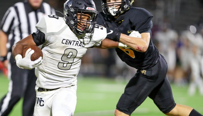Westerville Central's Michael Ross had six carries for 138 yards and two touchdowns in a 56-7 victory over Westland on Sept. 25.