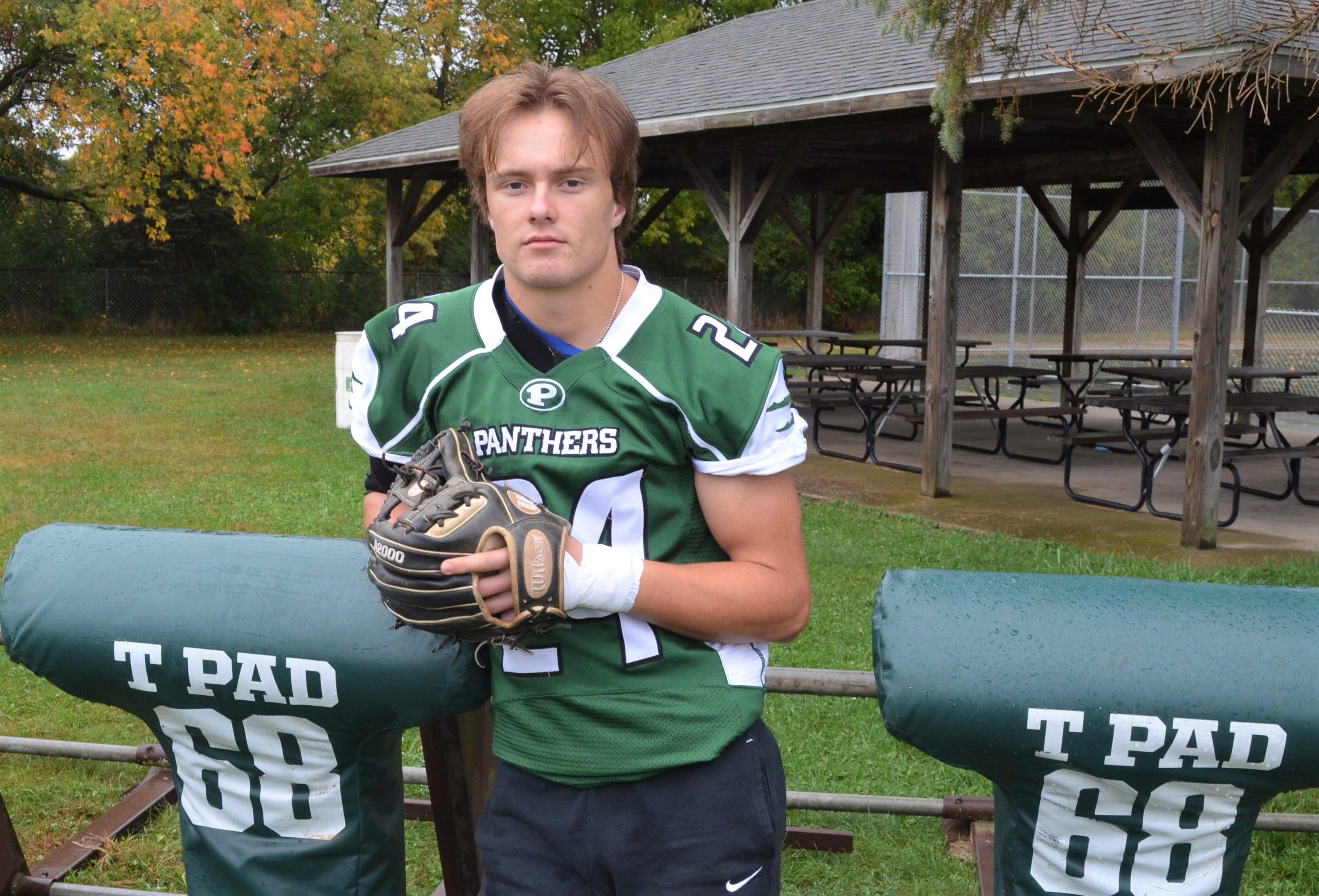 Set To Play Baseball At U M Pennfield S Hultink Shines In Football