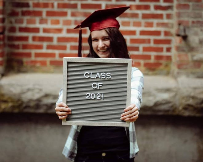 Makaila Nielsen, a South Kitsap High School senior, is sad about lost milestones for the Class of 2021, as the school year starts with remote learning due to COVID-19. But she's found some things to like about online classes ... like sleeping in.